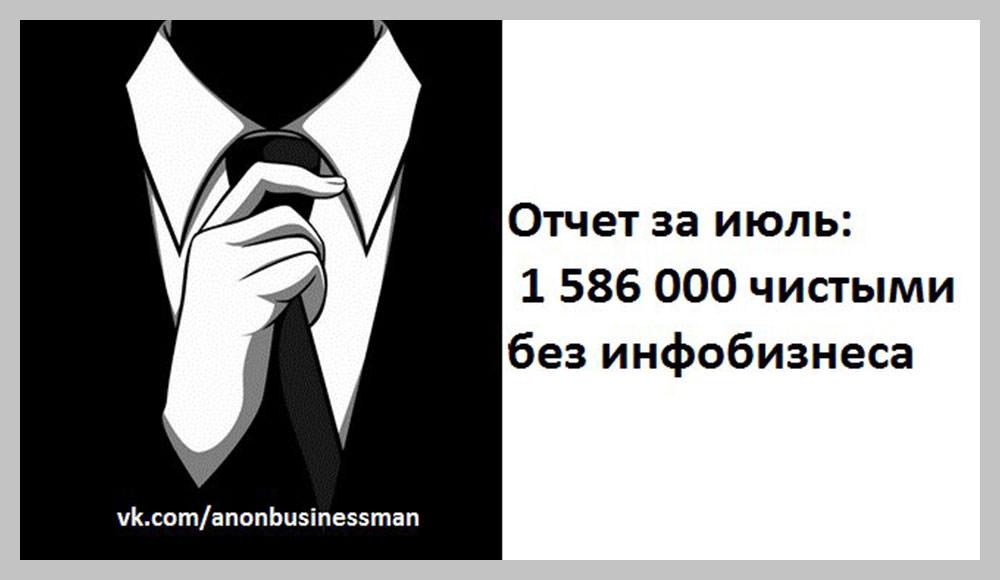 Отчёт о заработке от Анонимного предпринимателя.